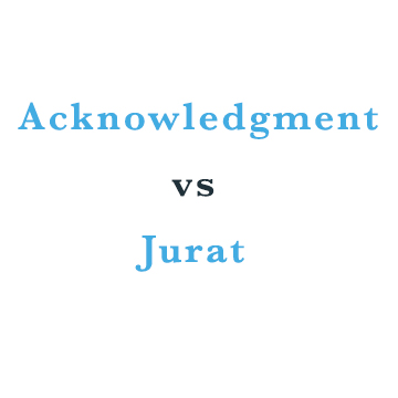 acknowledgment vs jurat
